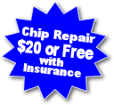 Free Auto Glass Chip repair or replacement